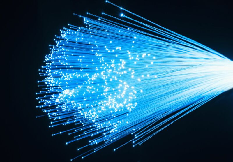 Illustration of fiber-optic cables.
