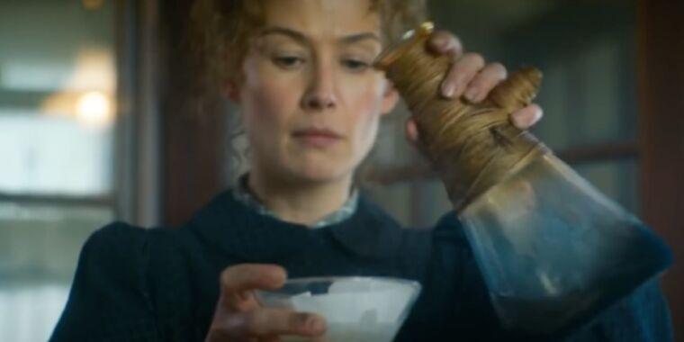 Review: Rosamund Pike is riveting as Marie Curie in uneven biopic Radioactive thumbnail