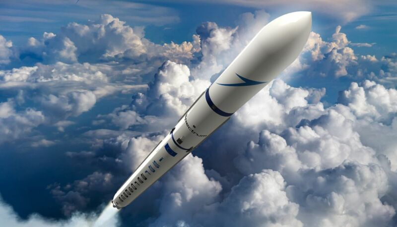 A rendering of Isar Aerospace's proposed Spectrum rocket.
