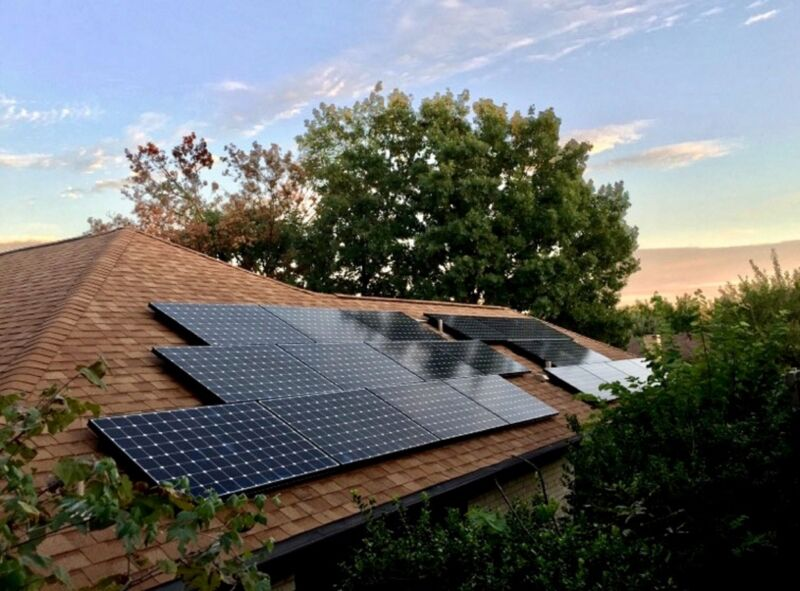 Image of a rooftop solar install.