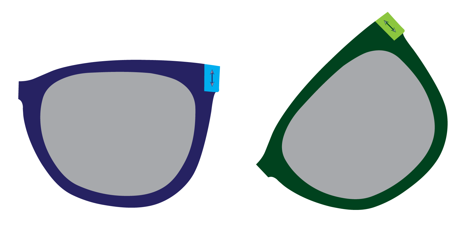 Regardless of how the glasses are held, exactly half of the unpolarized single photons will pass through the lens. Whether an unpolarized photon passes through the lens is perfectly random.