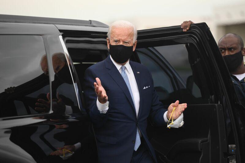Joe Biden in Delaware in August 2020.