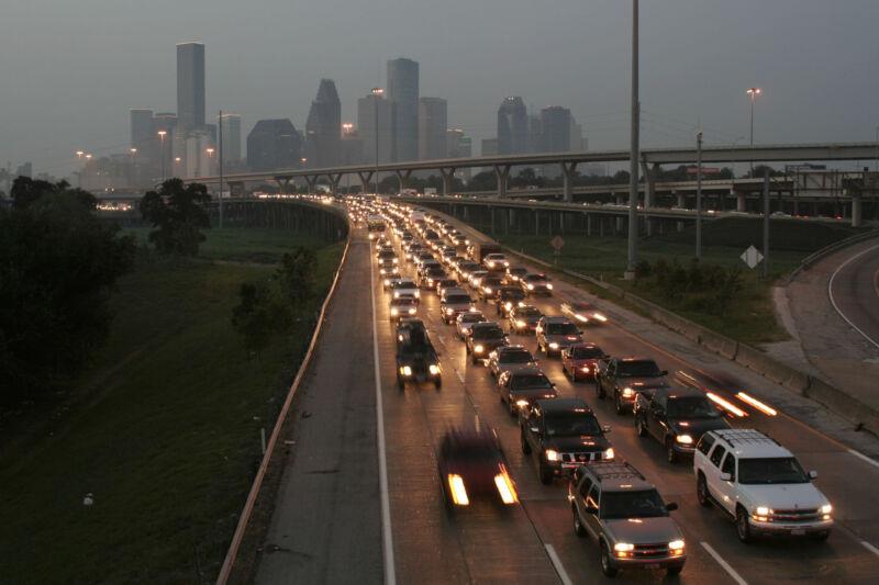 Scenes of the evacuation from Hurricane Rita in Houston.