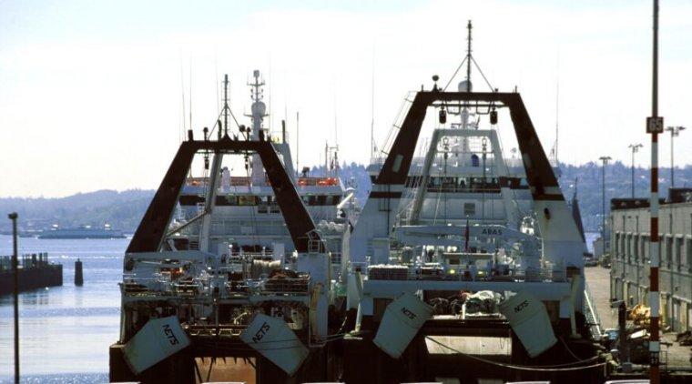 Fishing vessels in Seattle.