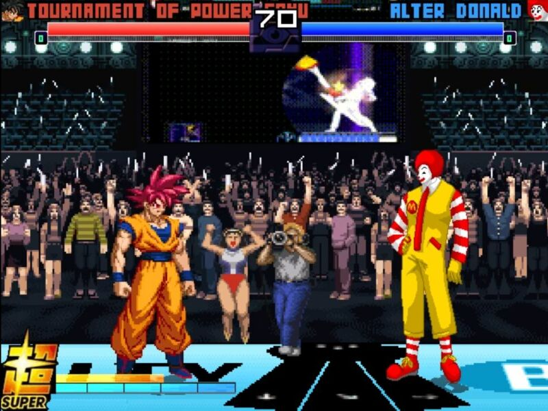 Screenshot from video game MUGEN.