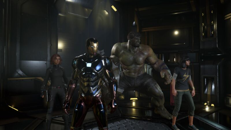 Avengers, assemble—in their newest video game. (All images in this article are captured directly from the beta's PS4 Pro version.)