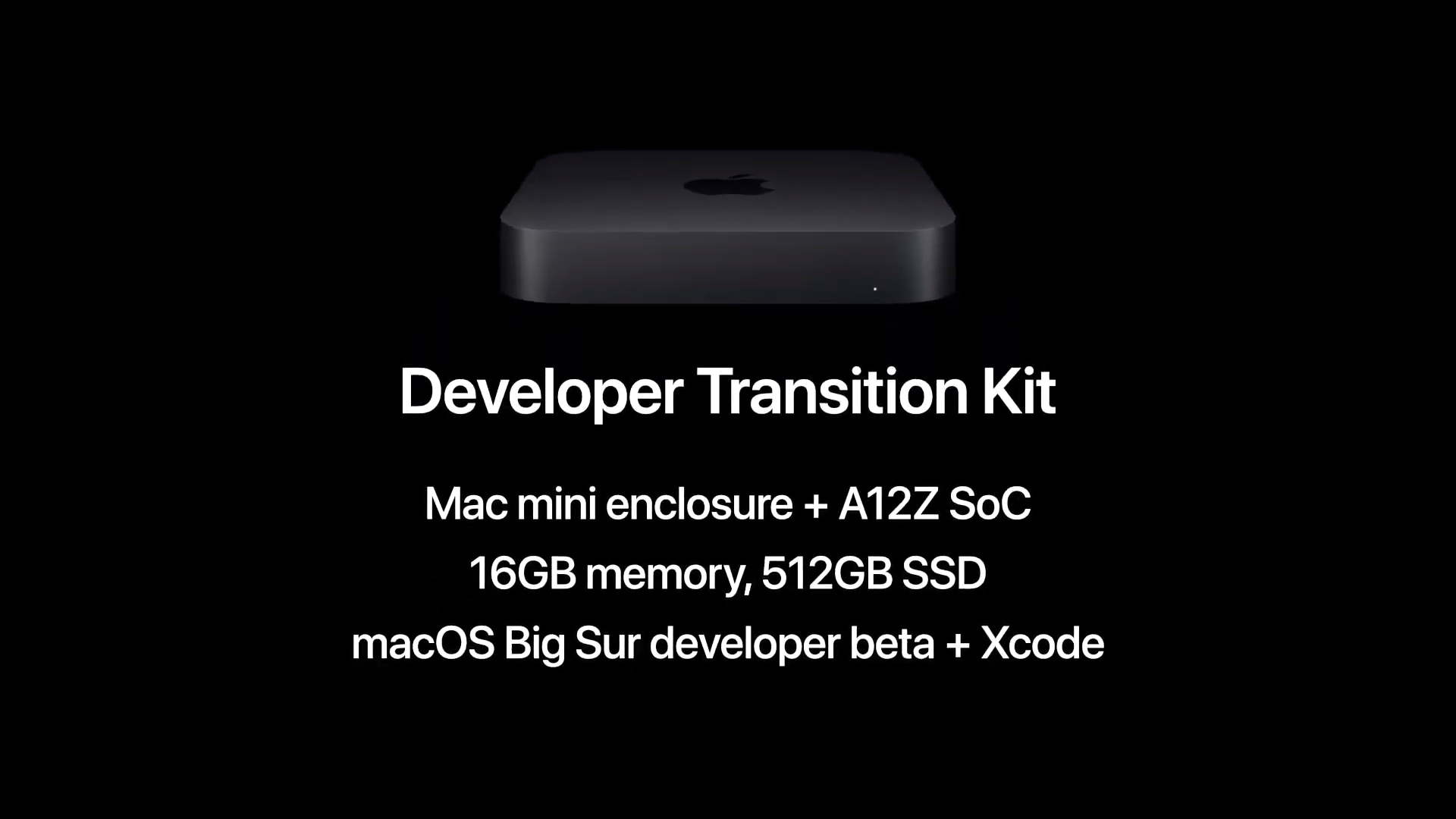 The first Mac with Apple silicon, technically: the developer transition kit.