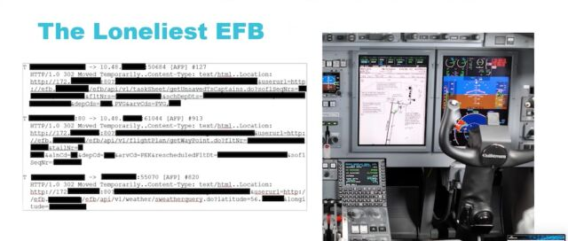 An electronic flight bag like the one pictured here was sending the flightdeck crew potentially sensitive data through HTTP.