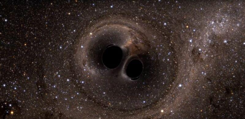 Εικόνα μιας παραδόξως παραμορφωμένης περιοχής του διαστήματος.