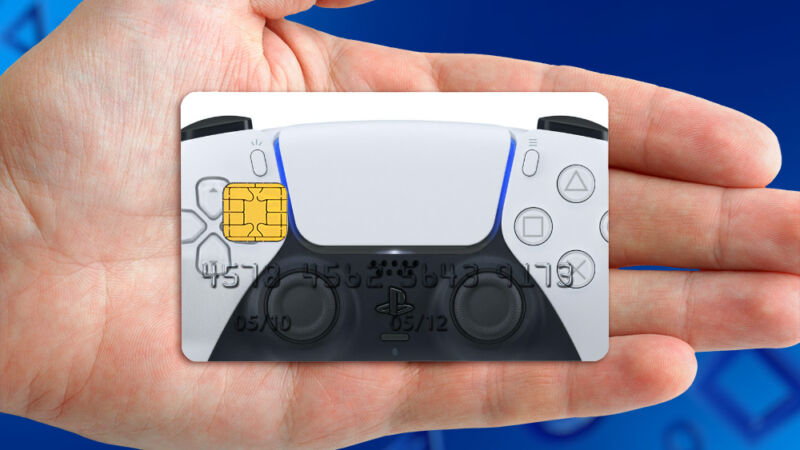 """This credit card doesn't exist, but if it did, we're not sure it'd count as """"previous interests and PlayStation activities"""" in terms of jumping the PlayStation 5 pre-order line."""
