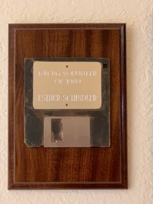 """The Island/Reach Computer User Group gave out this award, which was created with the """"lost diskette"""" method."""