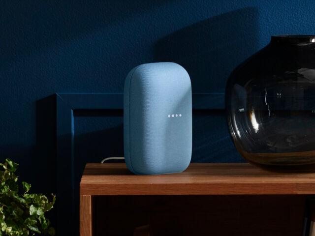 The Google Nest Audio smart speaker.