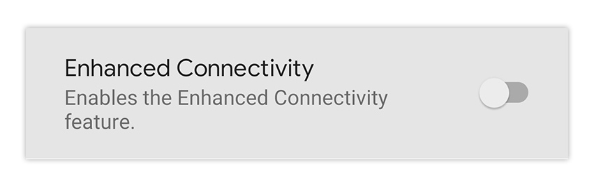 Another mystery checkbox. How are we enhancing connectivity?