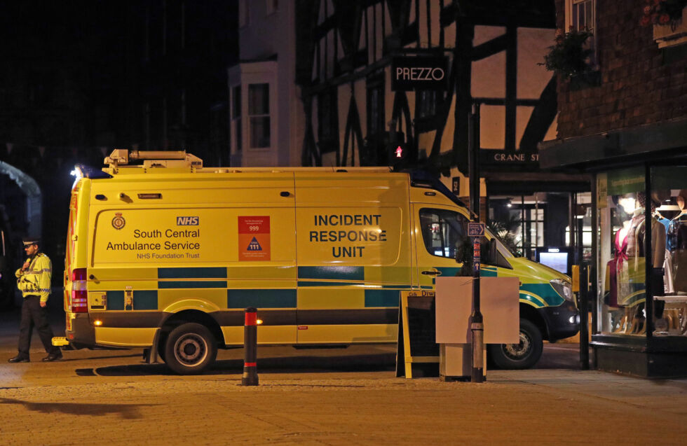 Emergency services outside the Prezzo restaurant in Salisbury, responding to the Novichok poisonings there.