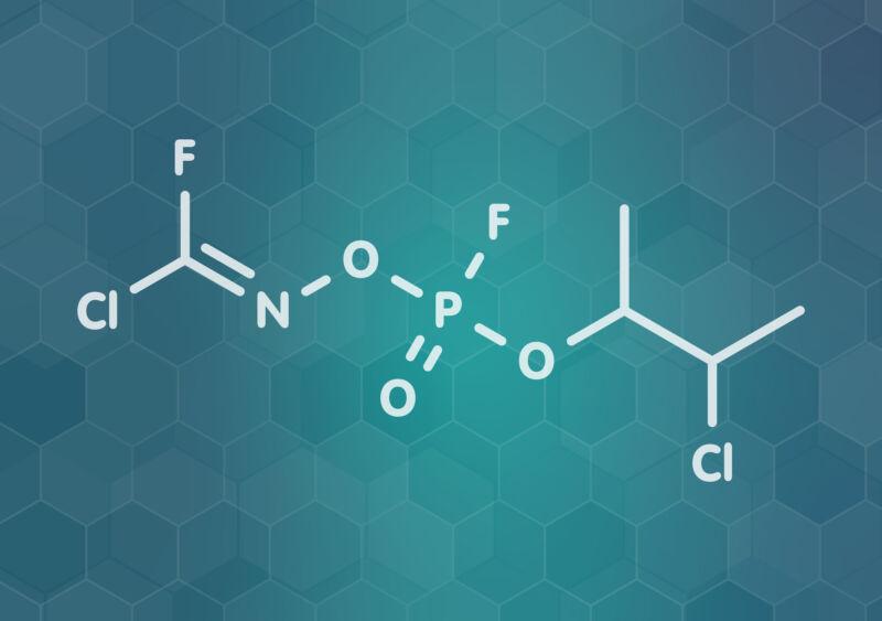The Novichok agent A-234 molecule—a proposed structure.