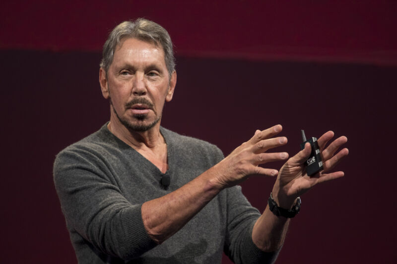 Oracle chairman Larry Ellison.