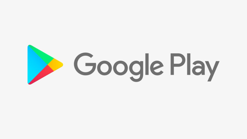 The logo for Google's app and content marketplace, Google Play.