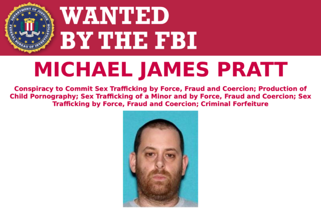 GirlsDoPorn's Pratt remains on the run, and the FBI is offering a $10,000 reward for information that can lead to his arrest.