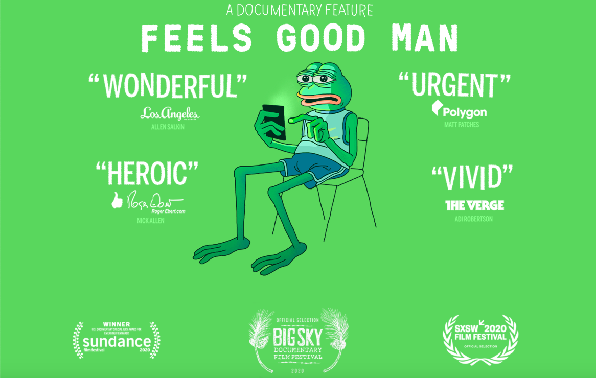 The poster for <em>Feels Good Man</em>.