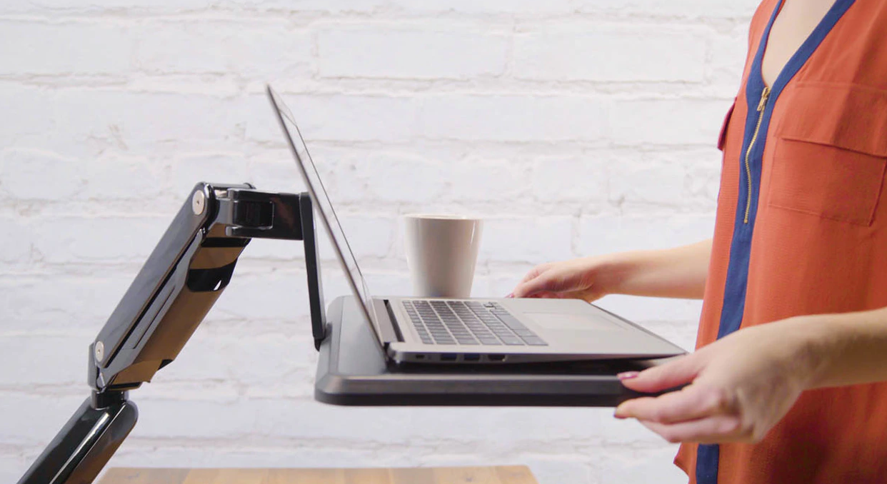 Uplift's Adapt Mobile Laptop Standing Desk Converter.