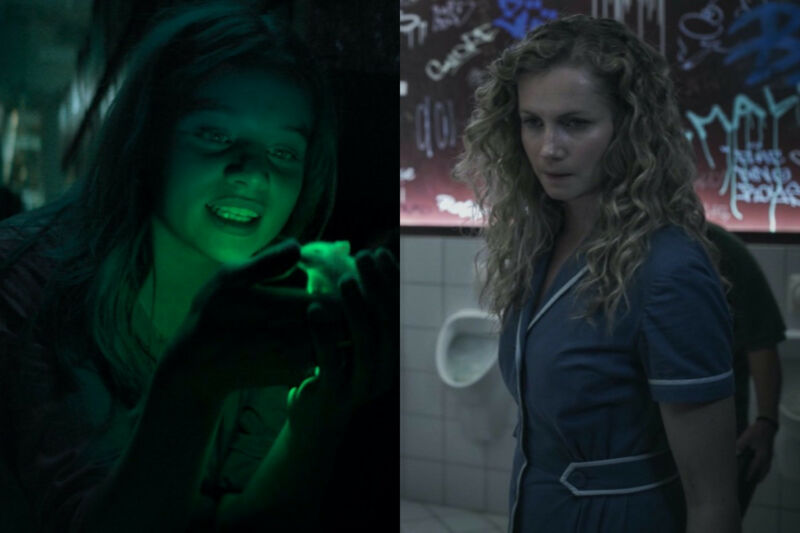 Luna Wedler (left) plays a young medical student with a secret in in the German drama <em>Biohackers</em>, and Cornelia Gröschel (right) stars as a diner waitress who discovers she has super strength in the German film, <em>Freaks: You're One of Us</em>. Both are currently streaming on Netflix.