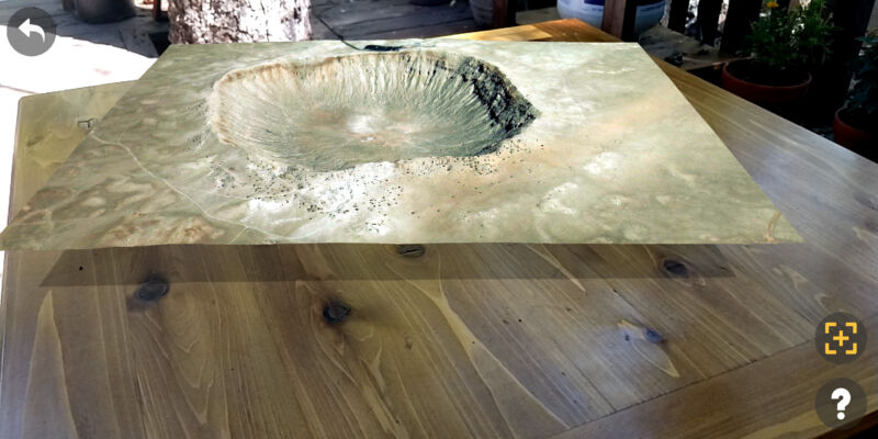 Fancy a tabletop meteor crater, anyone?