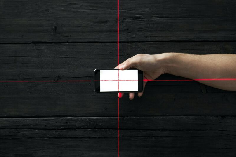 A Illustration of a smartphone at the center of a target.