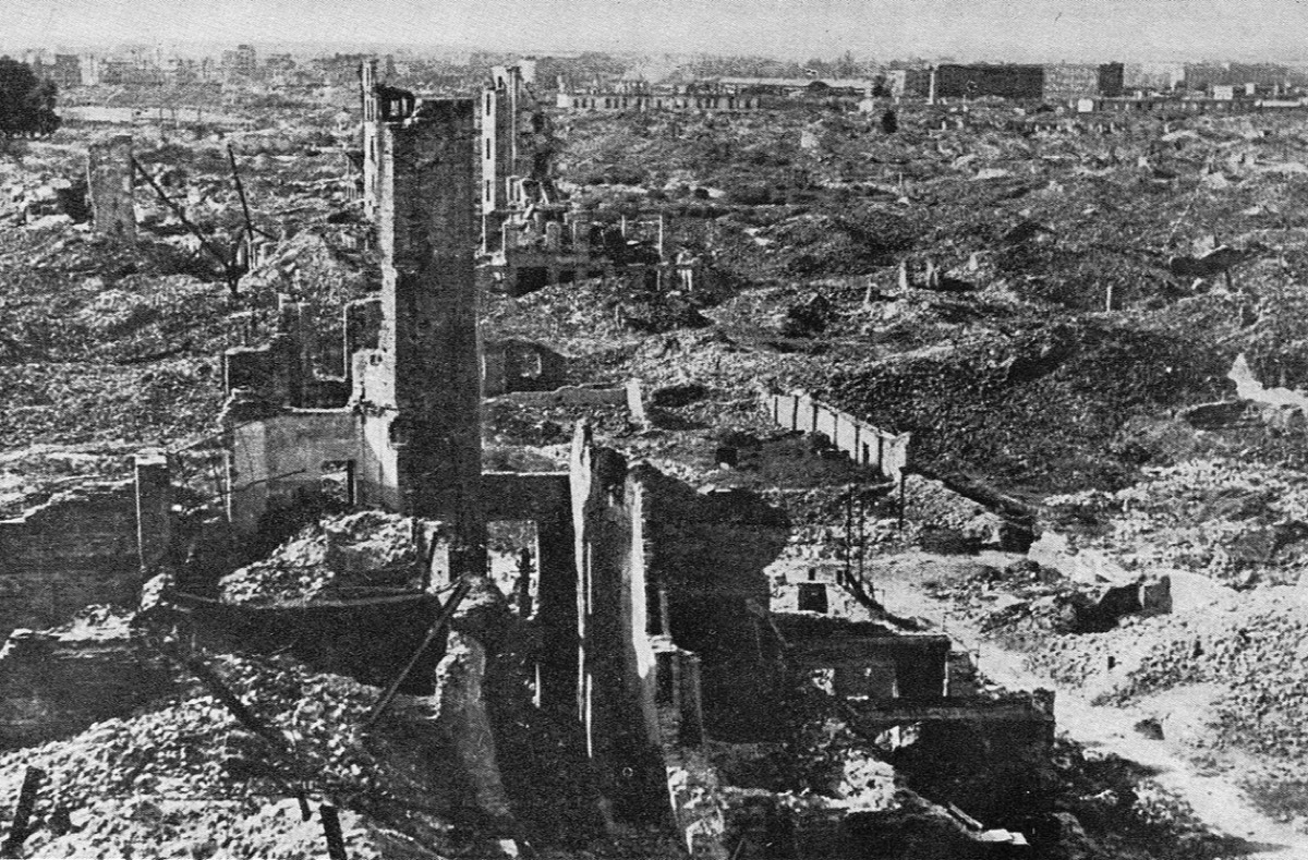 Ruins of the Warsaw Ghetto, circa 1945.