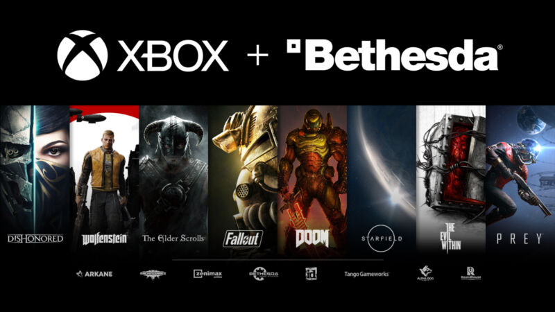 Just a few of the gaming franchises Microsoft now owns.