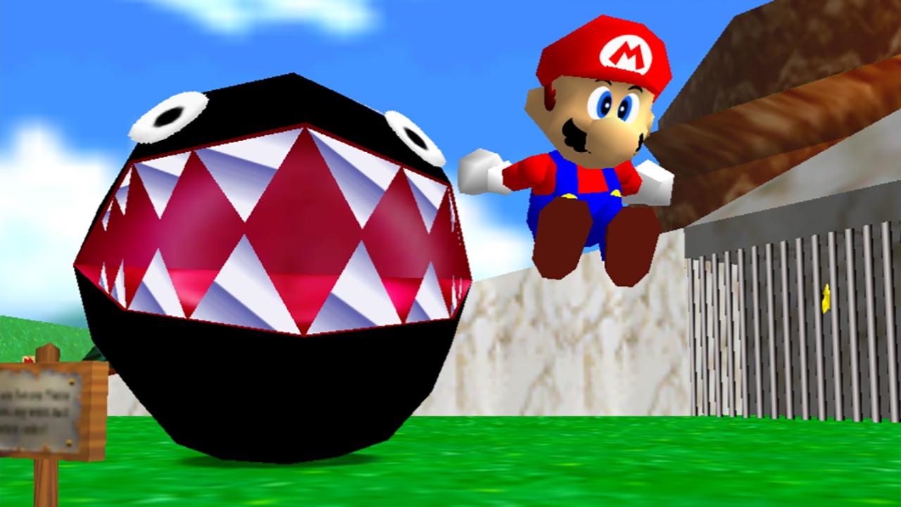 <em>Super Mario 64</em> in <em>Super Mario 3D All-Stars</em>.