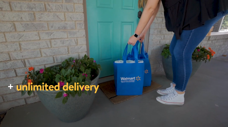 If you've ever wanted full bags of groceries to semi-magically appear on your doorstep, Walmart has a proposition for you.