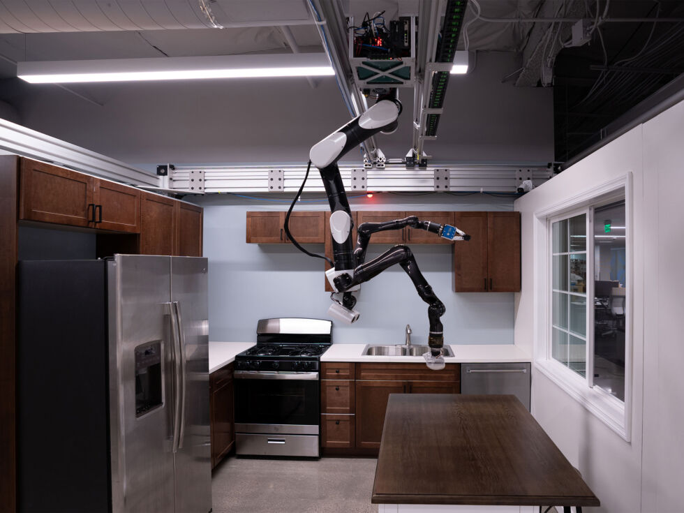 Toyota's ceiling-mounted robot is like GLaDOS for your kitchen