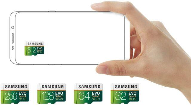 Samsung's EVO Select microSD cards.
