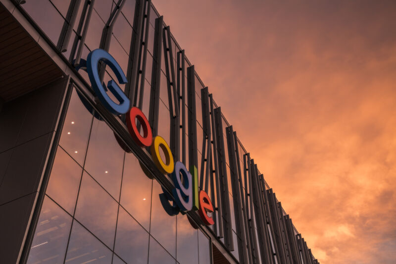 Sunset, by the Google empire.