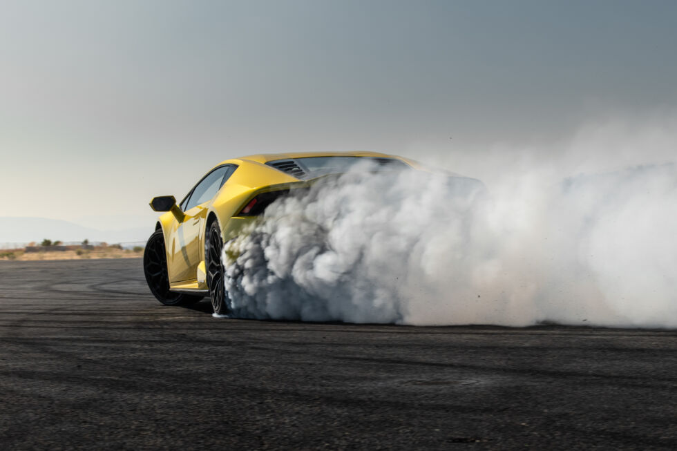 It's always best to turn tires to smoke when someone else is providing the rubber.