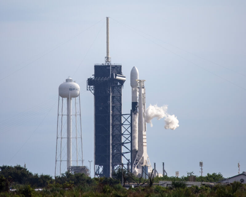 This used Falcon 9 rocket came close to launching on Thursday morning, but a ground sensor reading scrubbed the attempt.