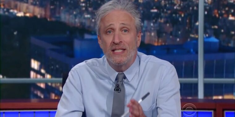 The Daily Show's Jon Stewart will return in new Apple TV+ series thumbnail