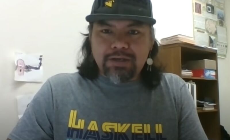 Melvinjohn Ashue, vice chairman of the Hoh Tribe, seen in a screenshot from a video produced by the Washington State Department of Commerce.
