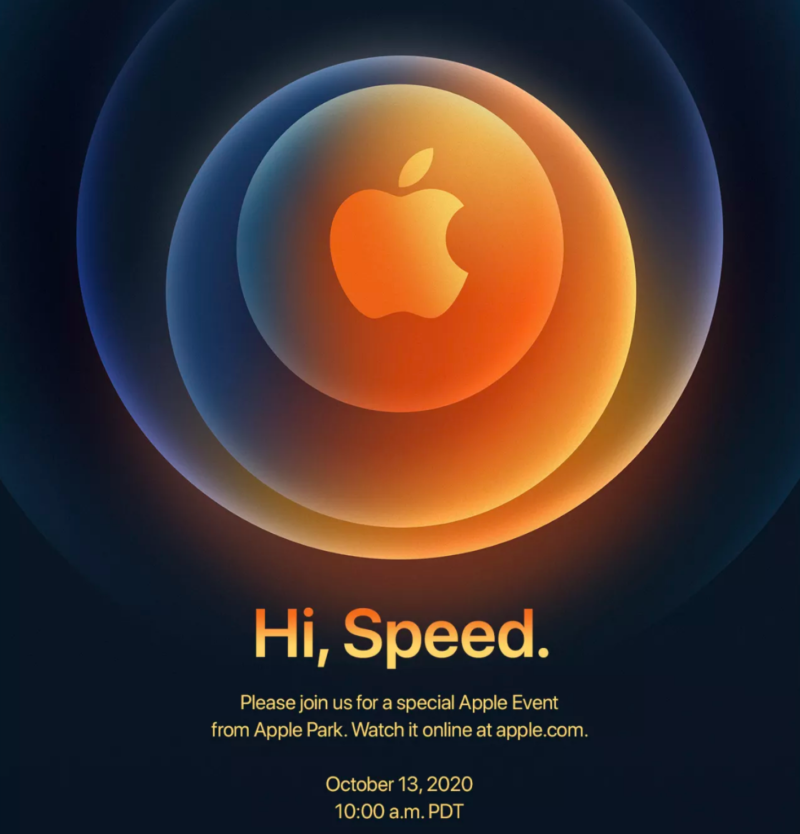 """Hi, Speed"": Apple's October 13 event is expected to reveal iPhone 12"