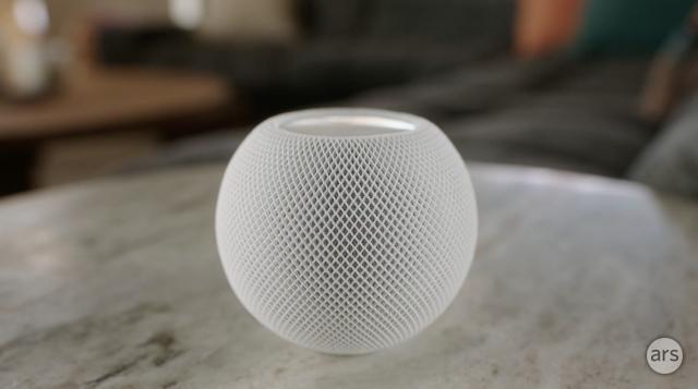 Apple's HomePod Mini smart speaker.