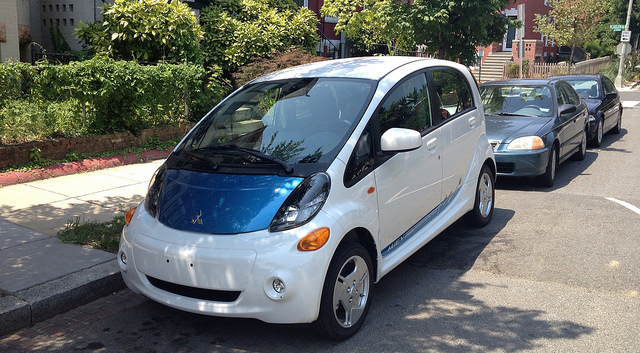 The Mitsubishi i-MiEV, as seen when we tested it in 2011.