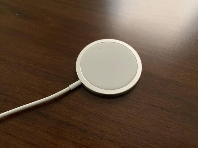 Apple's MagSafe Charger for the iPhone 12.
