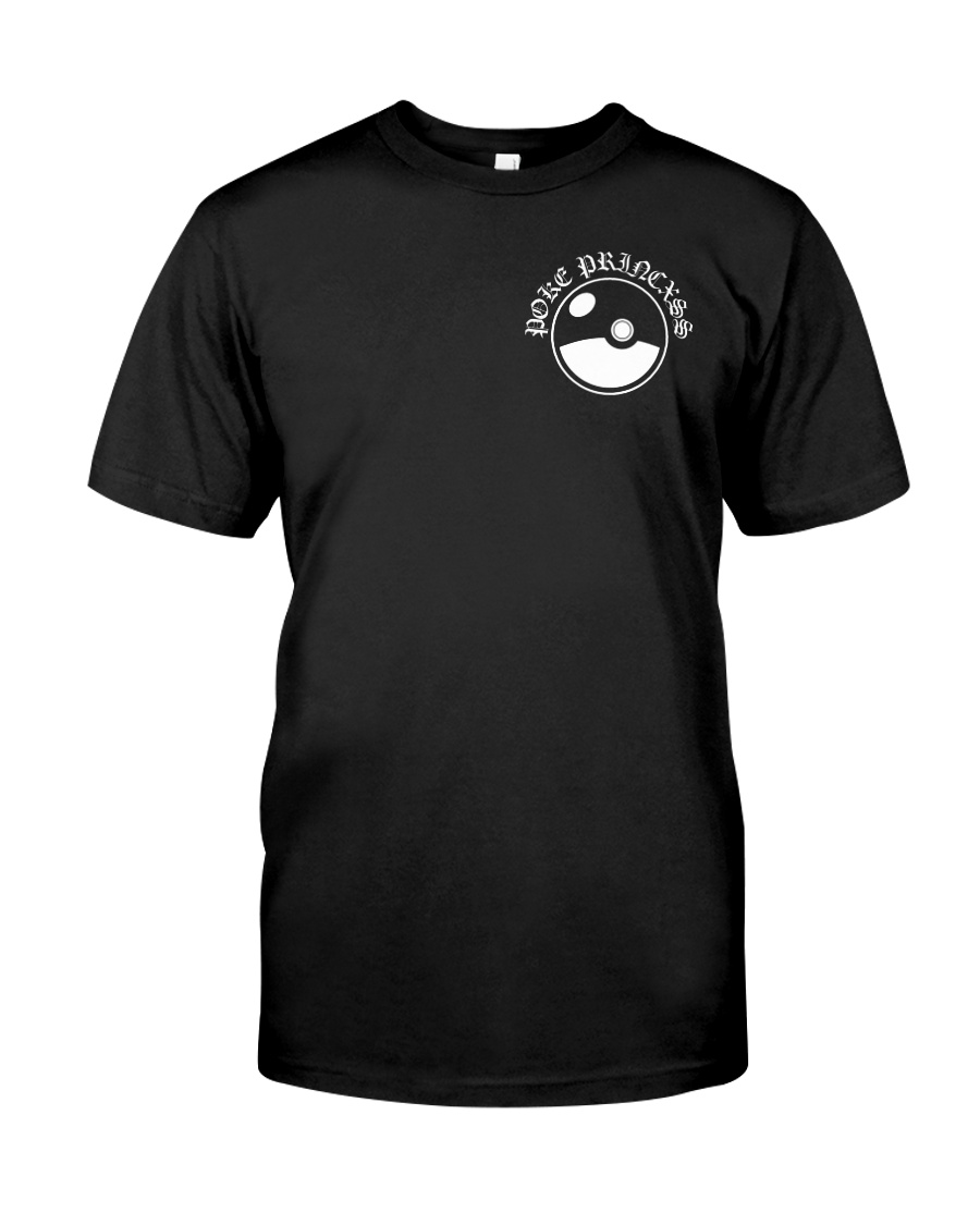 An example of a Poke Princess shirt featuring a Pokeball design that drew Nintendo's legal ire.