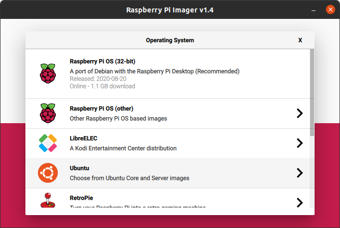 Ubuntu 20.10 Desktop is an option in the standard Raspberry Pi imager tool now.