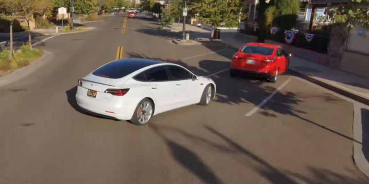 """Oh Jeeeesus"": Drivers react to Tesla's full self-driving beta release"
