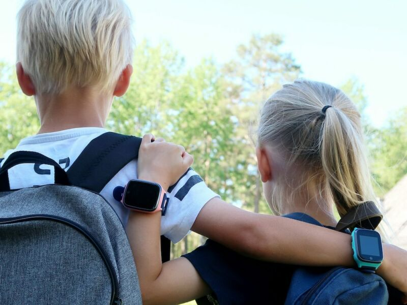 An undocumented back door that secretly takes pictures found in the children's smartwatch