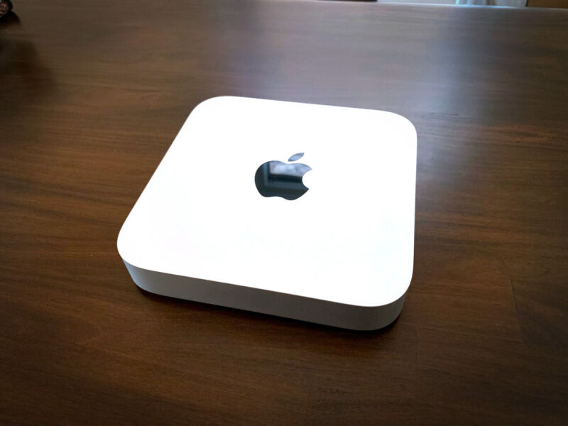 The 2020, M1-equipped Mac mini.