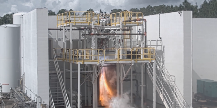 Relativity's 3D-printed engine has completed a mission duty cycle test-firing
