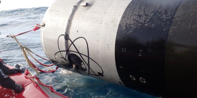 """Rocket Lab says recovered booster in """"good condition,"""" some parts will re-fly"""