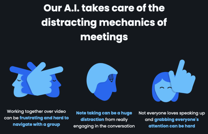 Headroom is one of several apps advertising AI as the solution for your messy virtual/video meetings.
